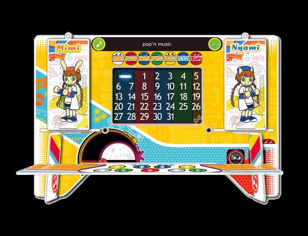 pop'n music 万年アクリルカレンダー+チャームセット(1種)