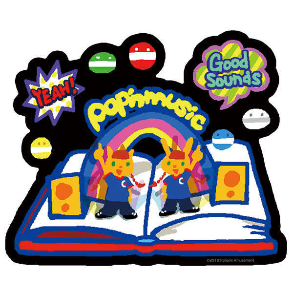 『pop'n music』ミミ&ニャミ 耐水ステッカー